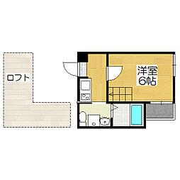 京都府京都市南区西九条唐戸町の賃貸マンションの間取り