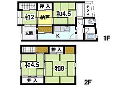 [テラスハウス] 奈良県奈良市押小路町 の賃貸【/】の間取り
