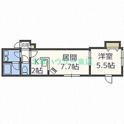 北海道札幌市東区北五十条東8丁目の賃貸アパートの間取り