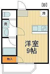 JR総武線 新小岩駅 徒歩9分の賃貸アパート 3階ワンルームの間取り