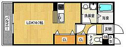 京都府京都市伏見区竹田浄菩提院町の賃貸アパートの間取り