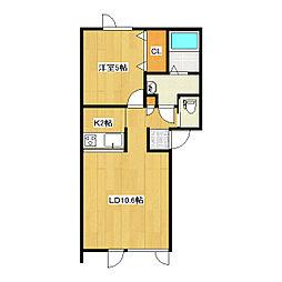Artis N3[1-D号室]の間取り