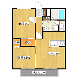 ボンシャンス一番館[2階]の間取り
