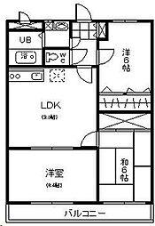 サン・クレール永山[3階]の間取り