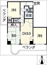 メゾンエトワール[7階]の間取り