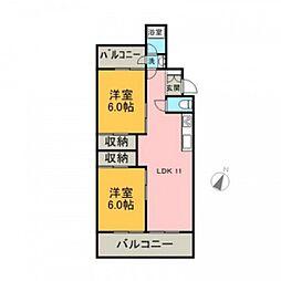 翠光マンション[1階]の間取り