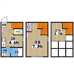 ハーミットクラブハウス高井戸[1階]の間取り