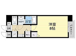 アスリート新大阪 4階1Kの間取り