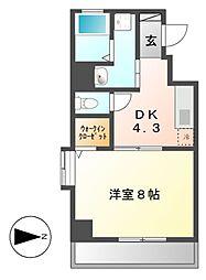 プロビデンス栄南[5階]の間取り