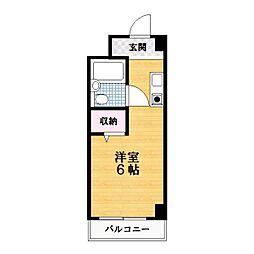 エクセレント忍ヶ丘[4階]の間取り