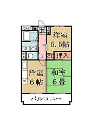 埼玉県草加市松江1丁目の賃貸マンションの間取り