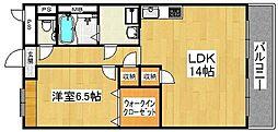 ルミエールフカキ2[201号室]の間取り