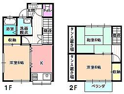 [テラスハウス] 長野県飯田市下殿岡 の賃貸【/】の間取り