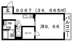 古市4丁目新築マンション[203号室号室]の間取り