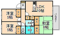 兵庫県伊丹市安堂寺町6丁目の賃貸アパートの間取り