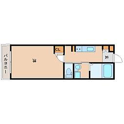 阪神本線 尼崎駅 徒歩8分の賃貸マンション 7階1Kの間取り