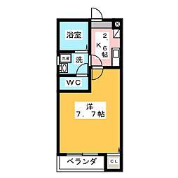クレフラスト浮島B棟[1階]の間取り