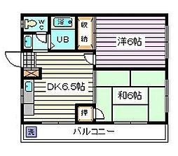埼玉県さいたま市南区鹿手袋4丁目の賃貸マンションの間取り