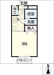 コーポパルパル N棟[2階]の間取り