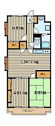 文理台ダイアマンション[4階]の間取り