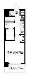 プレサンスTHE KYOTO 澄華 1階1Kの間取り