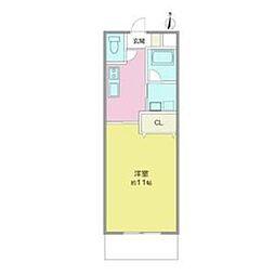 レイクワン[5階]の間取り
