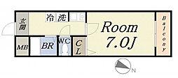 エクシード菅野[4階]の間取り