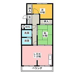 シャトー汐路[3階]の間取り