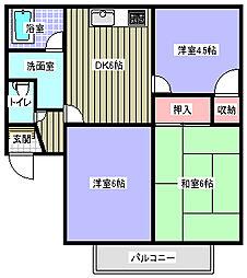 長崎県大村市植松3丁目の賃貸アパートの間取り