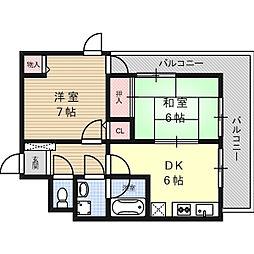 イーストウィング[2階]の間取り
