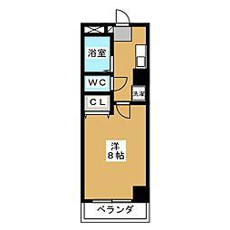 コモドエスぺシオ勝山[6階]の間取り
