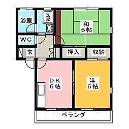 浜工アパート[2階]の間取り