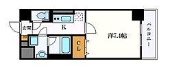 キャナルスクエア 2階1Kの間取り