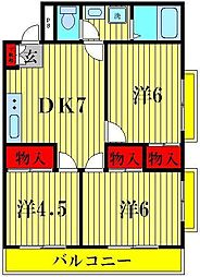 K's FLAT3[203号室]の間取り