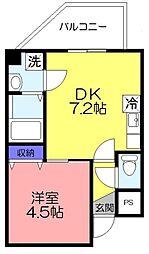 金太郎ヒルズ201[402号室]の間取り