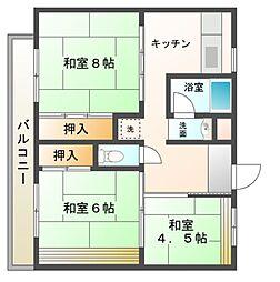 ビレッジハウス[3階]の間取り