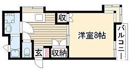 セジュール東山[203号室]の間取り