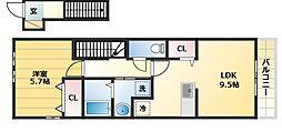 ロジュマンソレイユ[2階]の間取り