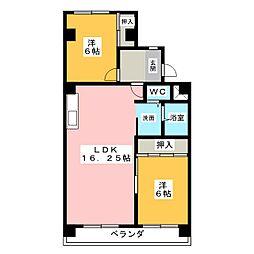 メゾンドール小島[2階]の間取り