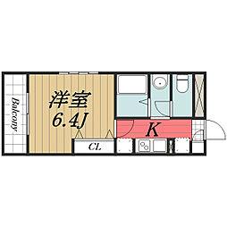 千葉県四街道市中央の賃貸マンションの間取り