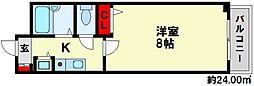 S・フォンティーヌ大橋[3階]の間取り