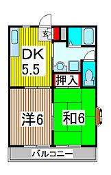エリール大島台[3階]の間取り