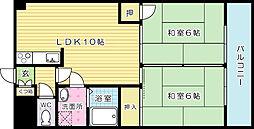 フジエホワイトローザ熊谷[311号室]の間取り