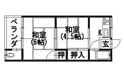 藤井荘[1階]の間取り