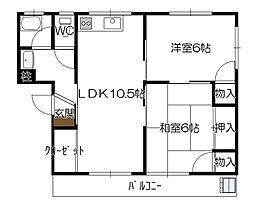 広島県広島市佐伯区五日市中央5の賃貸マンションの間取り