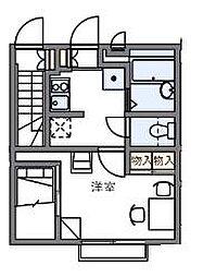 東京都葛飾区水元1丁目の賃貸アパートの間取り