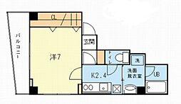 サクシード虎ノ門[4階]の間取り