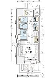 エステムコート新大阪オルティ[12階]の間取り