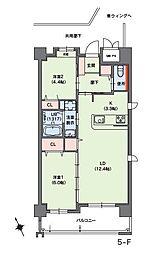 福岡市地下鉄七隈線 桜坂駅 バス5分 小笹団地正門前下車 徒歩3分の賃貸マンション 3階2LDKの間取り