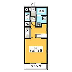 コーポかごめ[1階]の間取り